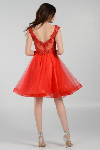 ecabf578b40 cap sleeve plus size formal and homecoming dress  pol8098 - Simply Fab Dress