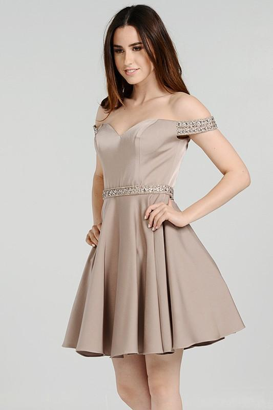 Trendy sweetheart neckline off sholuder short homecoming dress poly #8018 - Simply Fab Dress