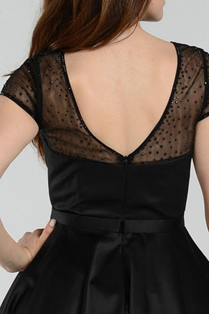 Timeless classic black cocktail homecoming dress poly#7994 - Simply Fab Dress