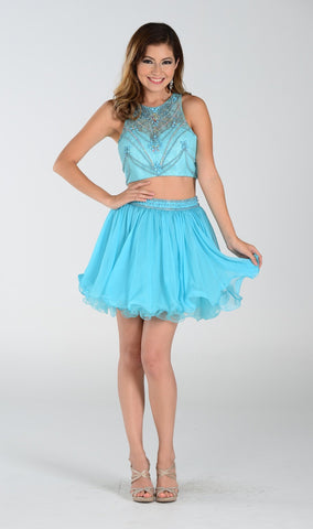 Two-Piece Short Dress Prom dress - Simply Fab Dress