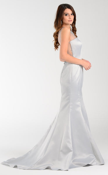 Satin Mermaid Prom Dress 101-7460 - Simply Fab Dress