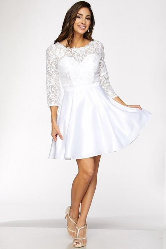 Long Sleeve Short Formal Dresses