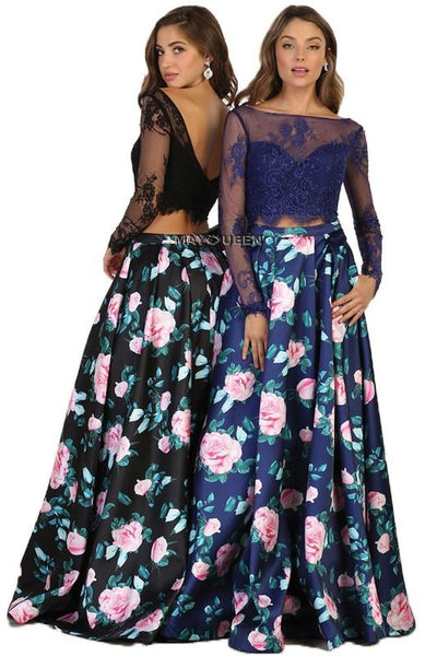 Two piece floral dress & prom dress  May queen 1511 - Simply Fab Dress