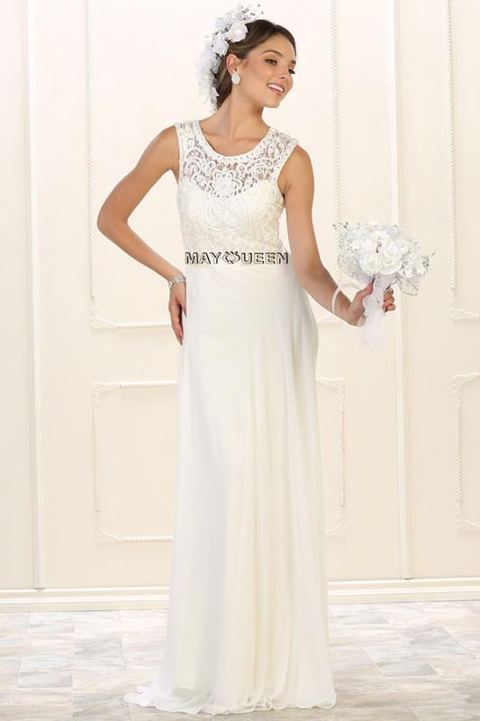 Casual Chiffon Wedding Dress MAYQUEEN 1519-Simply Fab Dress