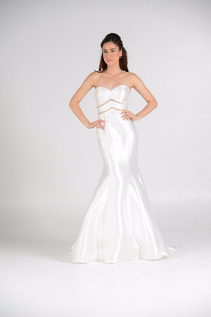 Satin Mermaid Prom Dress pol#7628wht - Simply Fab Dress