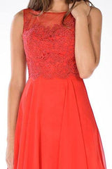 Lace top cocktail dress 101-7652 - Simply Fab Dress