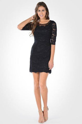 Elegant lace cocktail dress 101-7654 - Simply Fab Dress