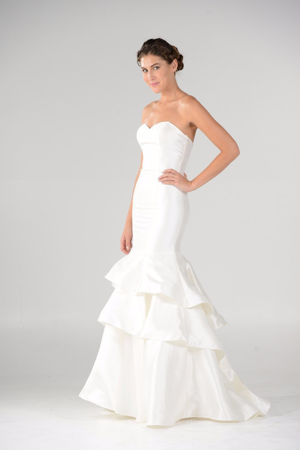 Satin Mermaid Wedding Dress pol#7672 Affordable wedding dress - Simply Fab Dress