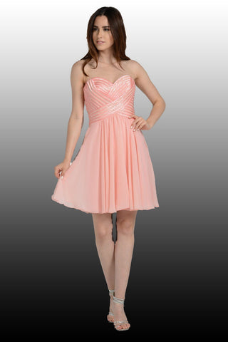 Short Chiffon Dress 101-7296 Prom dress