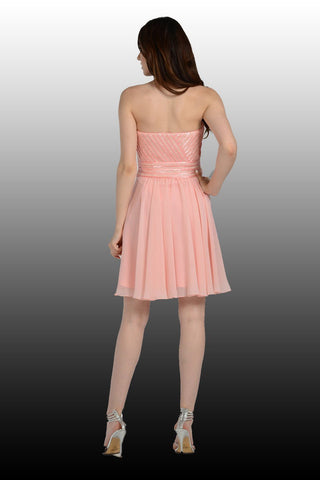 Short Pink Homecoming Dress-Simply Fab Dress