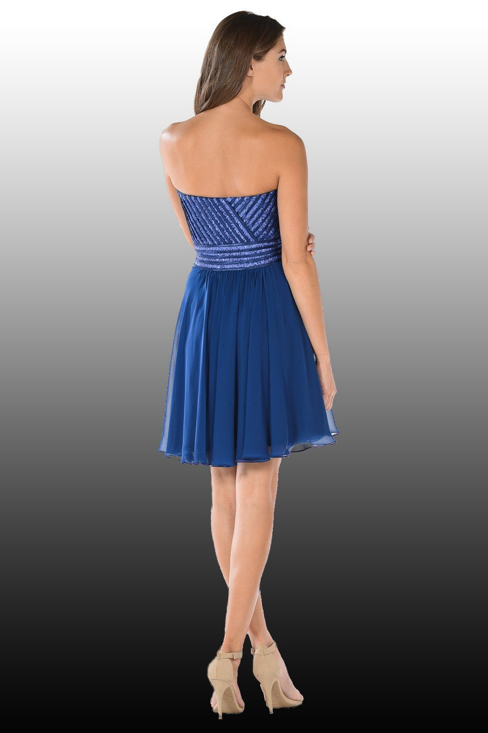 Short blue homecoming dress poly#7716-Simply Fab Dress