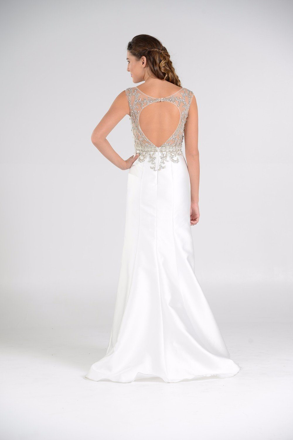 satin mermaid casual beach wedding dress pol#7738 – Simply Fab Dress