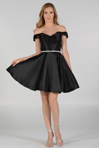 Short Black homecoming prom dress #pol 7948 - Simply Fab Dress
