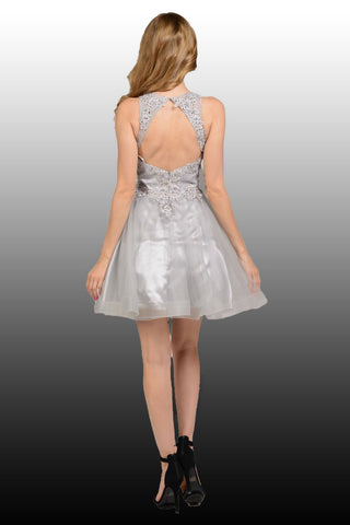 Short homecoming and formal dress  poly #8074