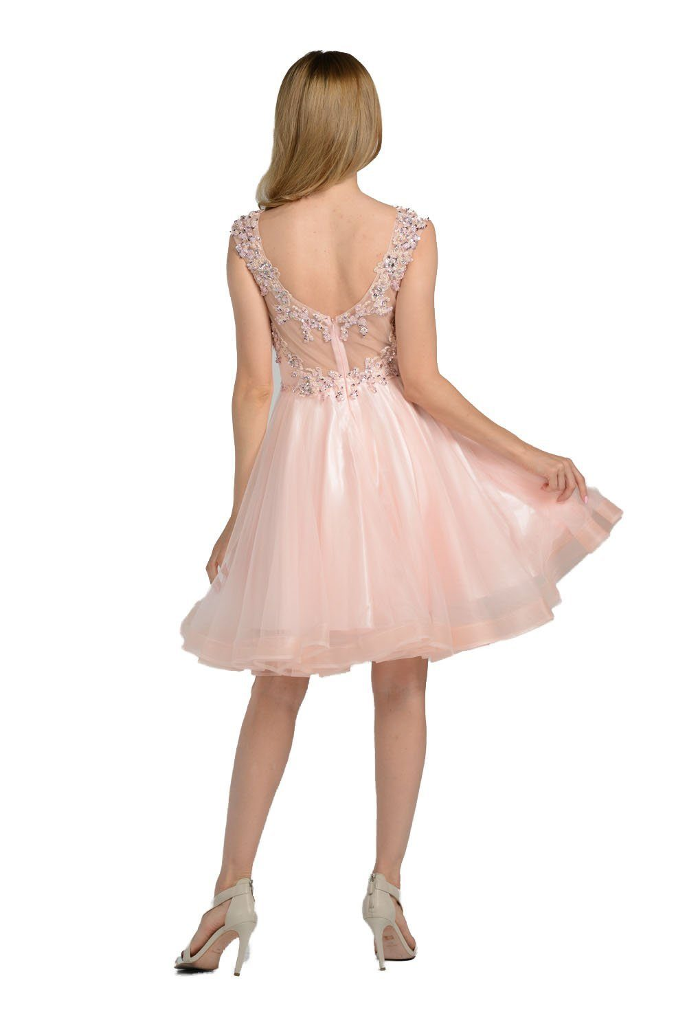 Sparkling Beaded Bodice Cap Sleeve Plus Size Formal And Homecoming