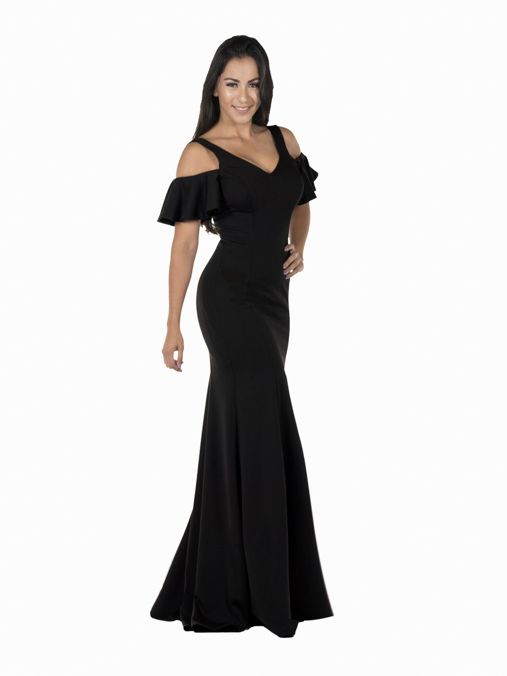 Off the shoulder evening dress & Fitted Gown  POL#8130