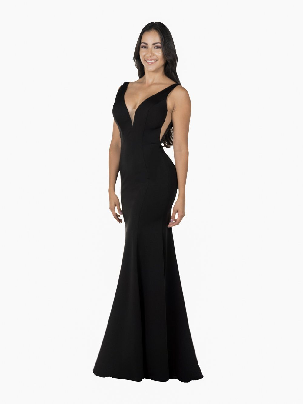 Floor length evening gown po#8158