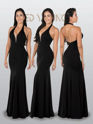 Trendy satin cocktail dress 101-7894