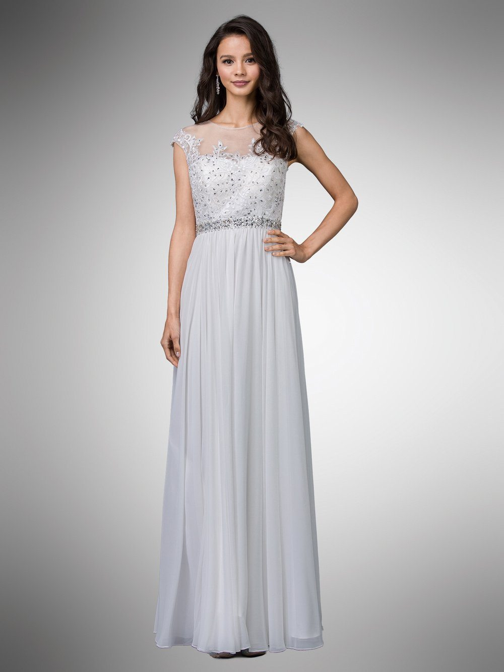 Chiffon beach wedding dress #Dq9400-Simply Fab Dress