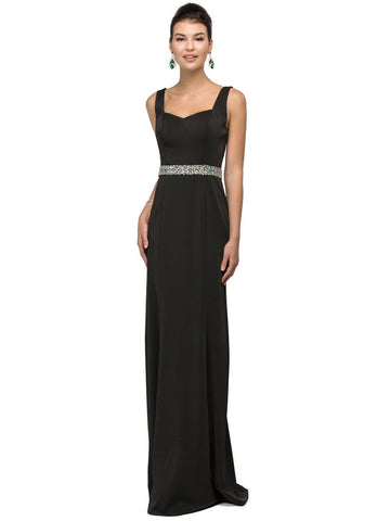 Fitted evening dress with Sparkly Belt DQ9487