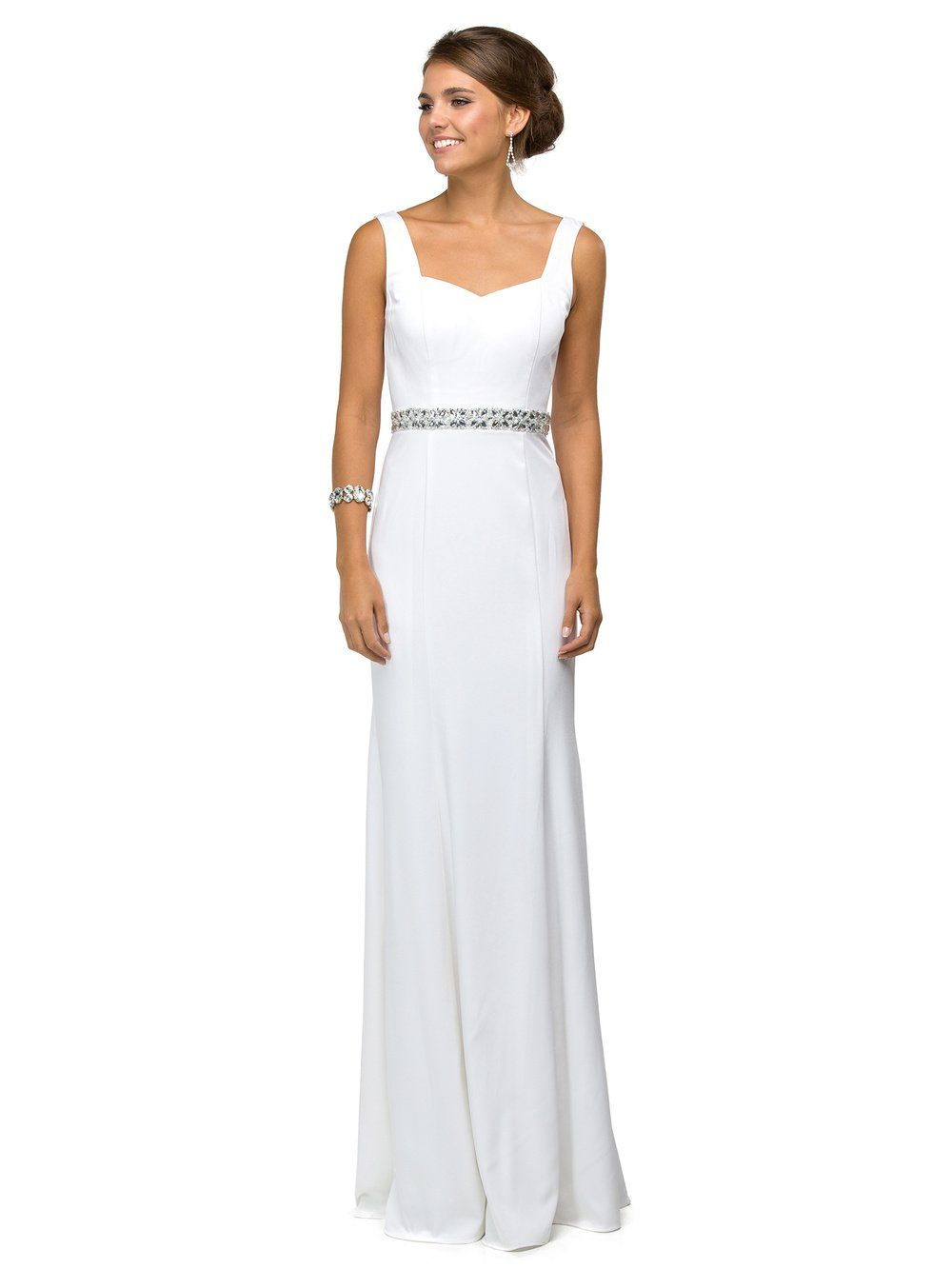 fitted Casual wedding dress DQ9487W-Simply Fab Dress