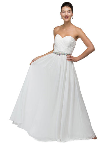 Affordable long chiffon beach wedding dress Dq9488 - Simply Fab Dress