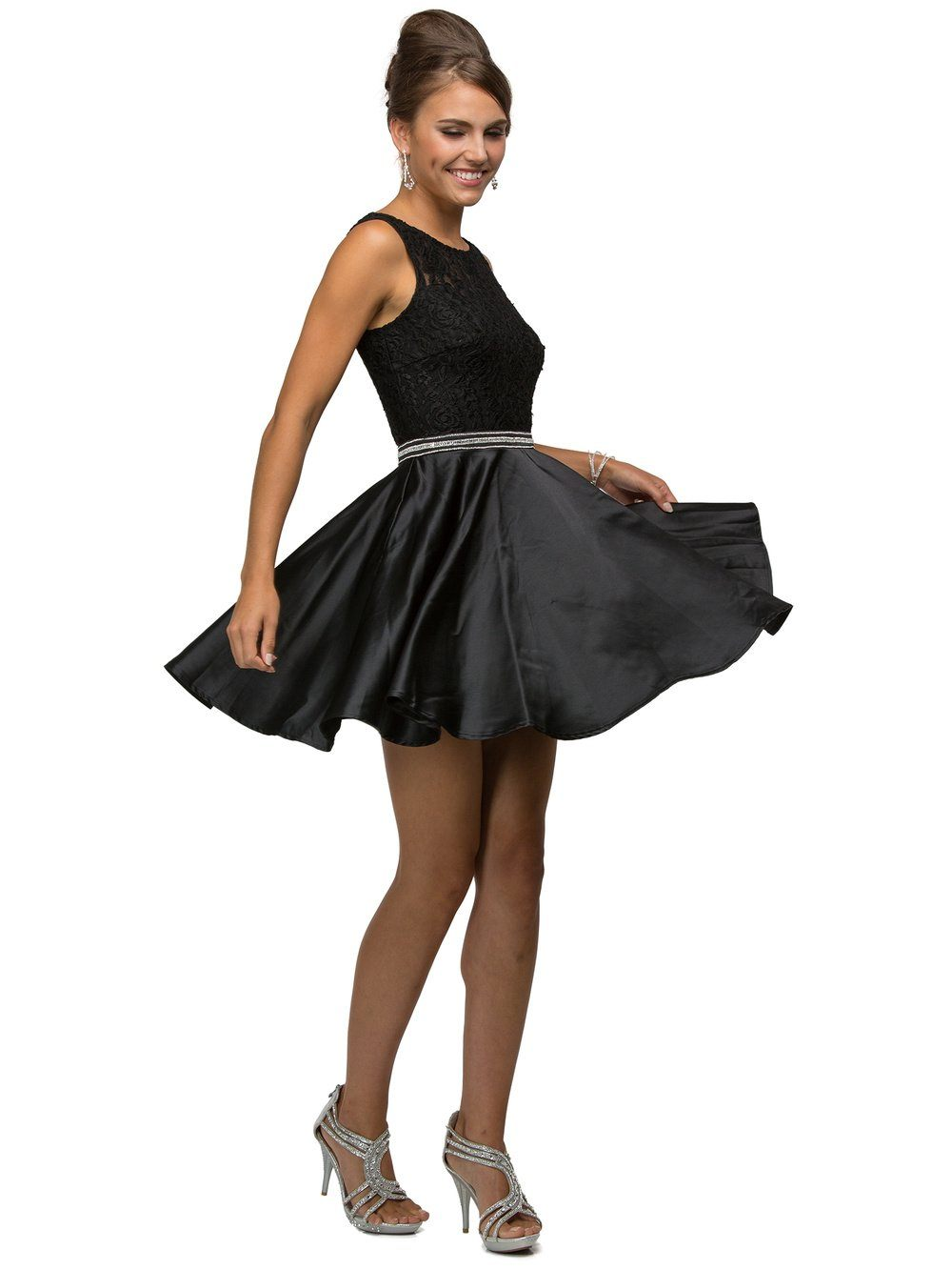 Black short formal dress DQ9503
