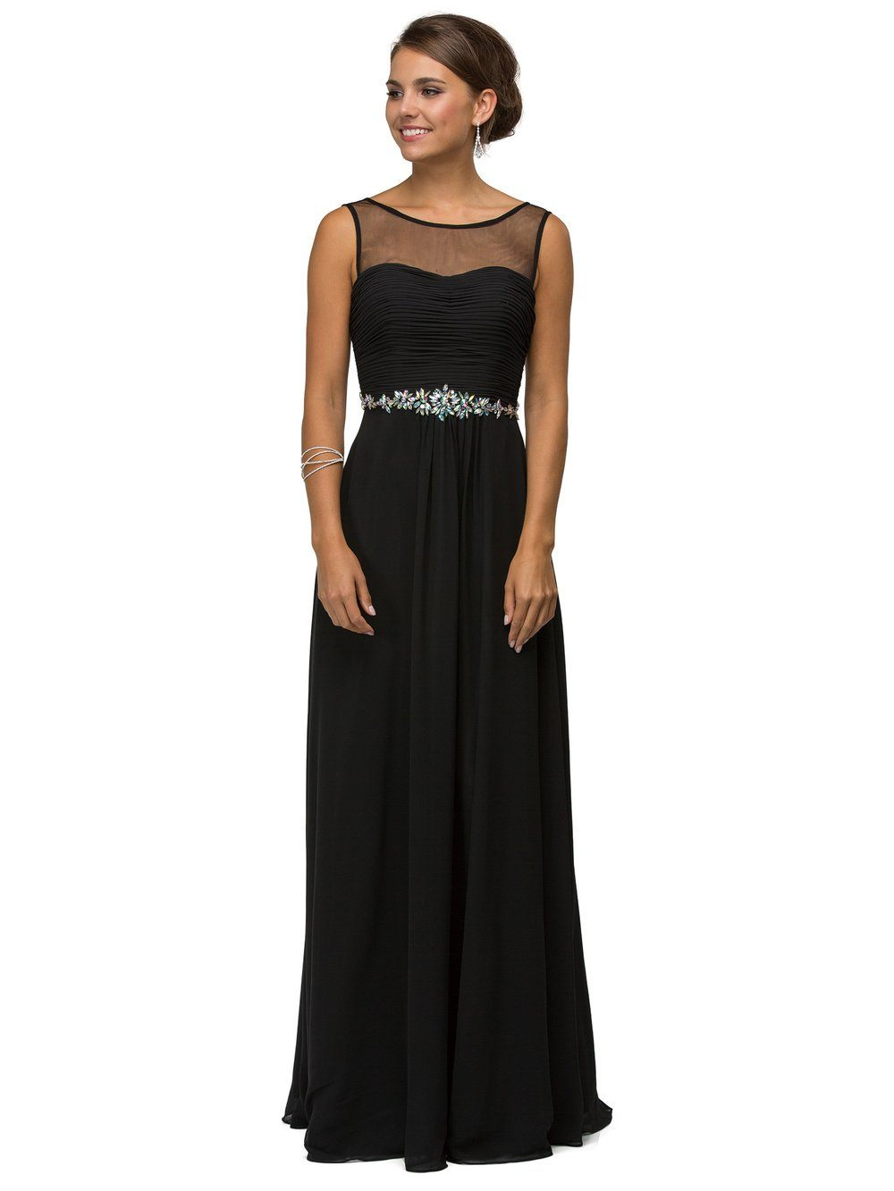 Affordable long evening gown DQ9541