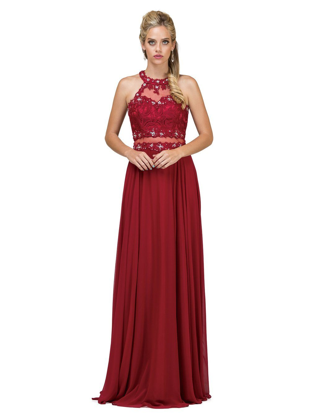 lace mock twopiece cute prom dress dq9548 – simply fab dress