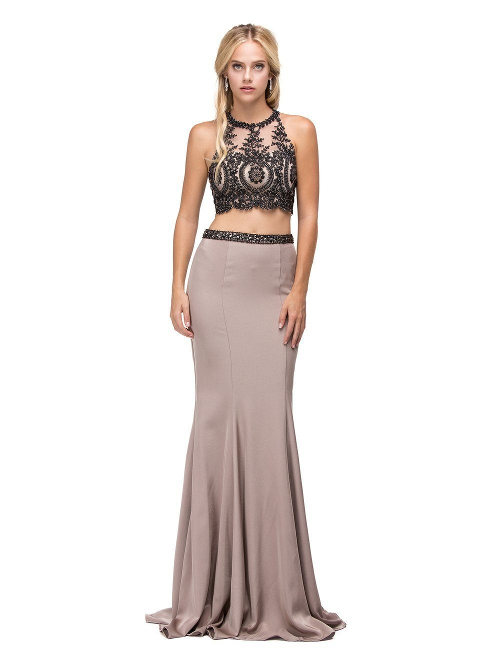 Two-Piece long Prom dress DQ9670-Simply Fab Dress