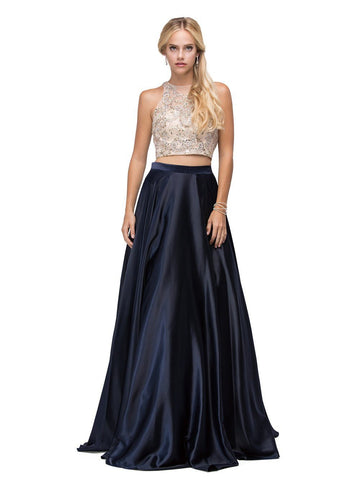 Sexy two piece Long Prom Dress dq9716