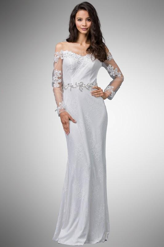 Long sleeve casual wedding dress #dq0002-Simply Fab Dress