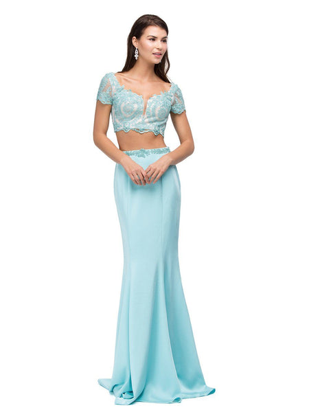 Long 2 piece homecoming dress dq9878-Simply Fab Dress