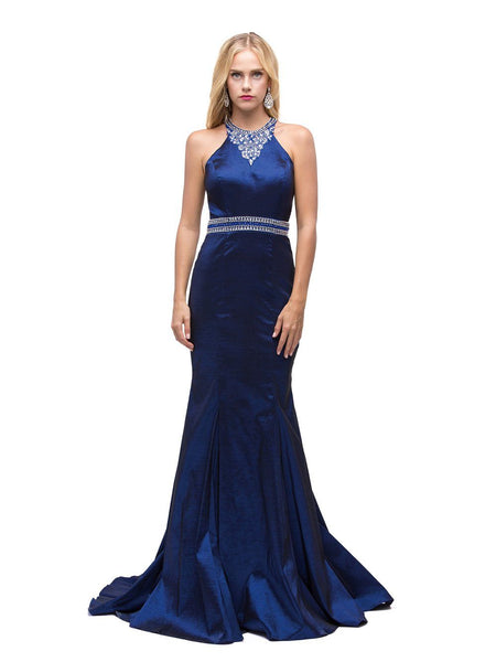 Sexy mermaid style satin prom dress dq9882