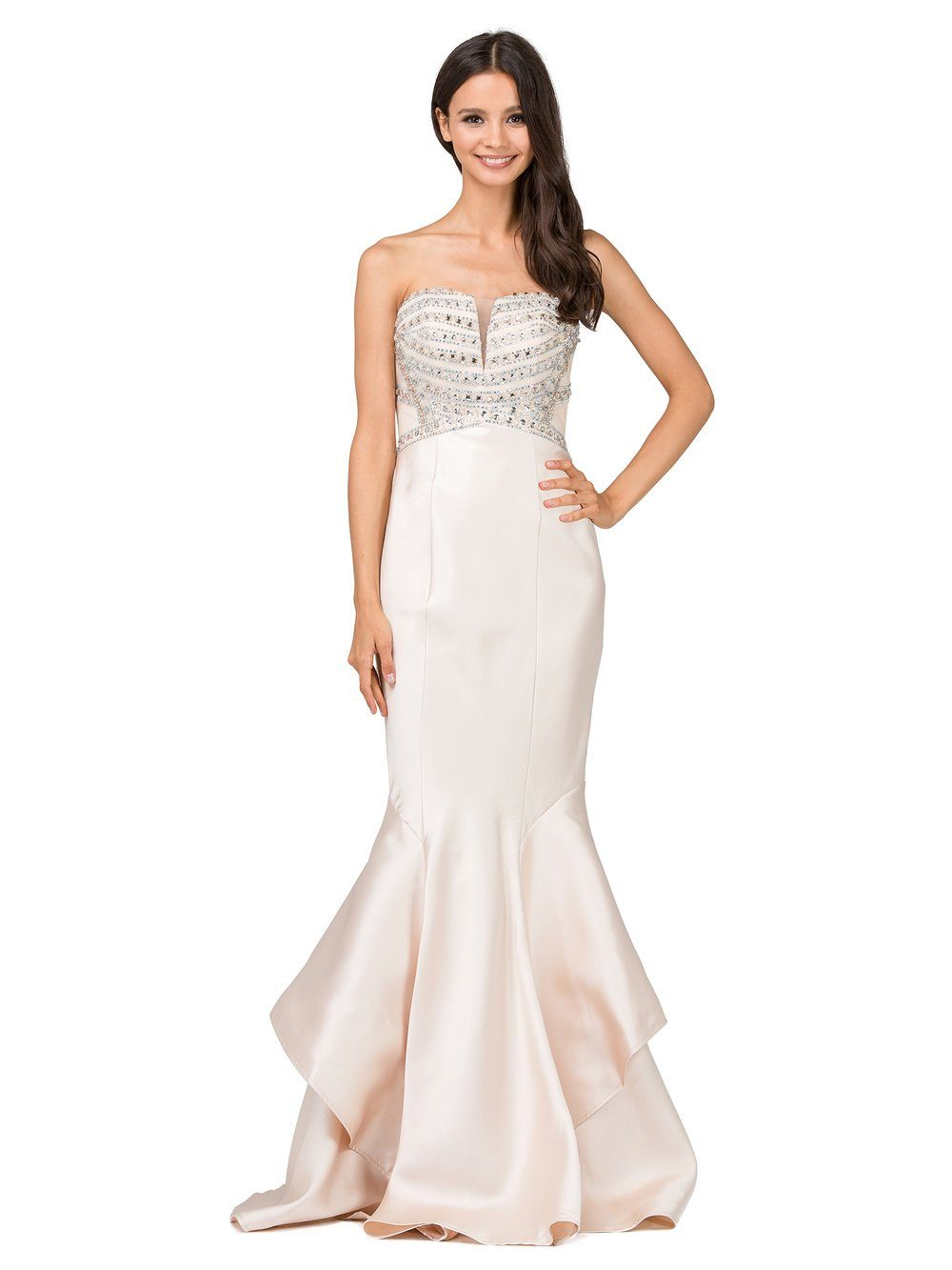 Beaded mermaid style prom dress  DQ9917