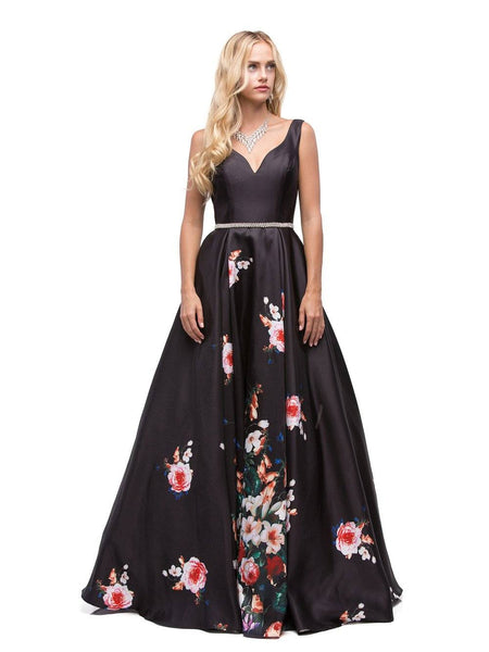 Floral Print Dress & Evening Gown DQ9920-Simply Fab Dress