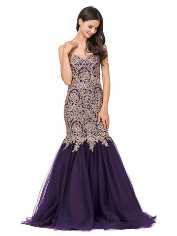 Strapless mermaid prom dress  DQ9932