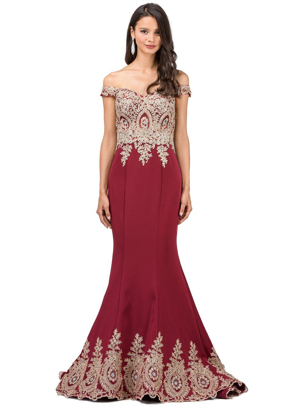 d468b4abcd842 Off the Shoulder Burgundy Prom dress dq9946