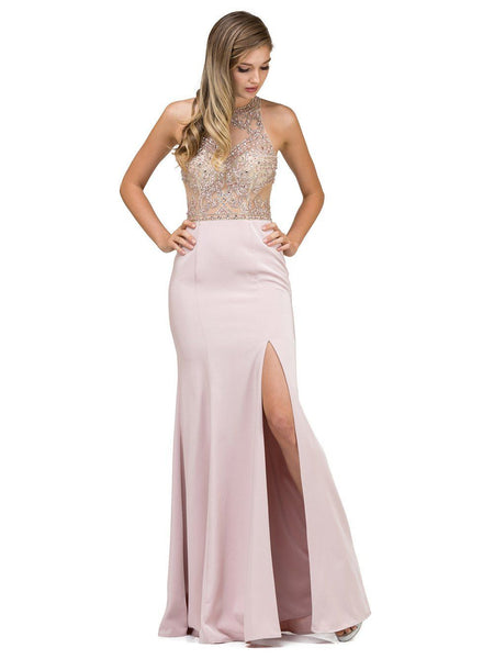 Sexy Fitted Prom Dress with Slit DQ9974-Simply Fab Dress