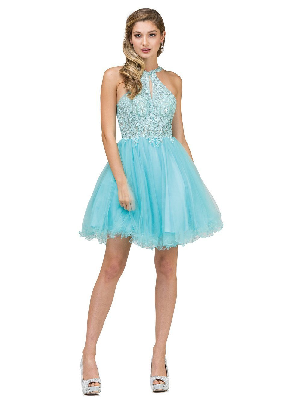 Sheer Illusion Short prom dress – Simply Fab Dress