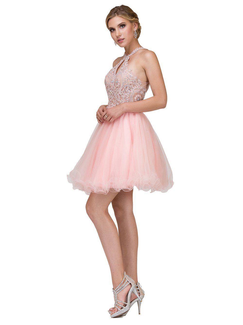 Sheer Illusion Short prom dress DQ9992-Simply Fab Dress