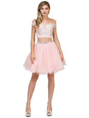 Two-Piece short Prom Dress DQ9993-Simply Fab Dress