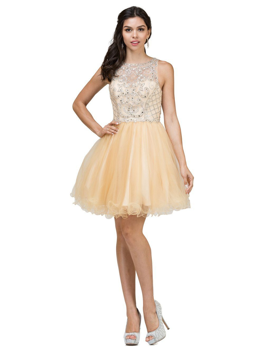 Sparkly Short Prom Dress DQ9995-Simply Fab Dress