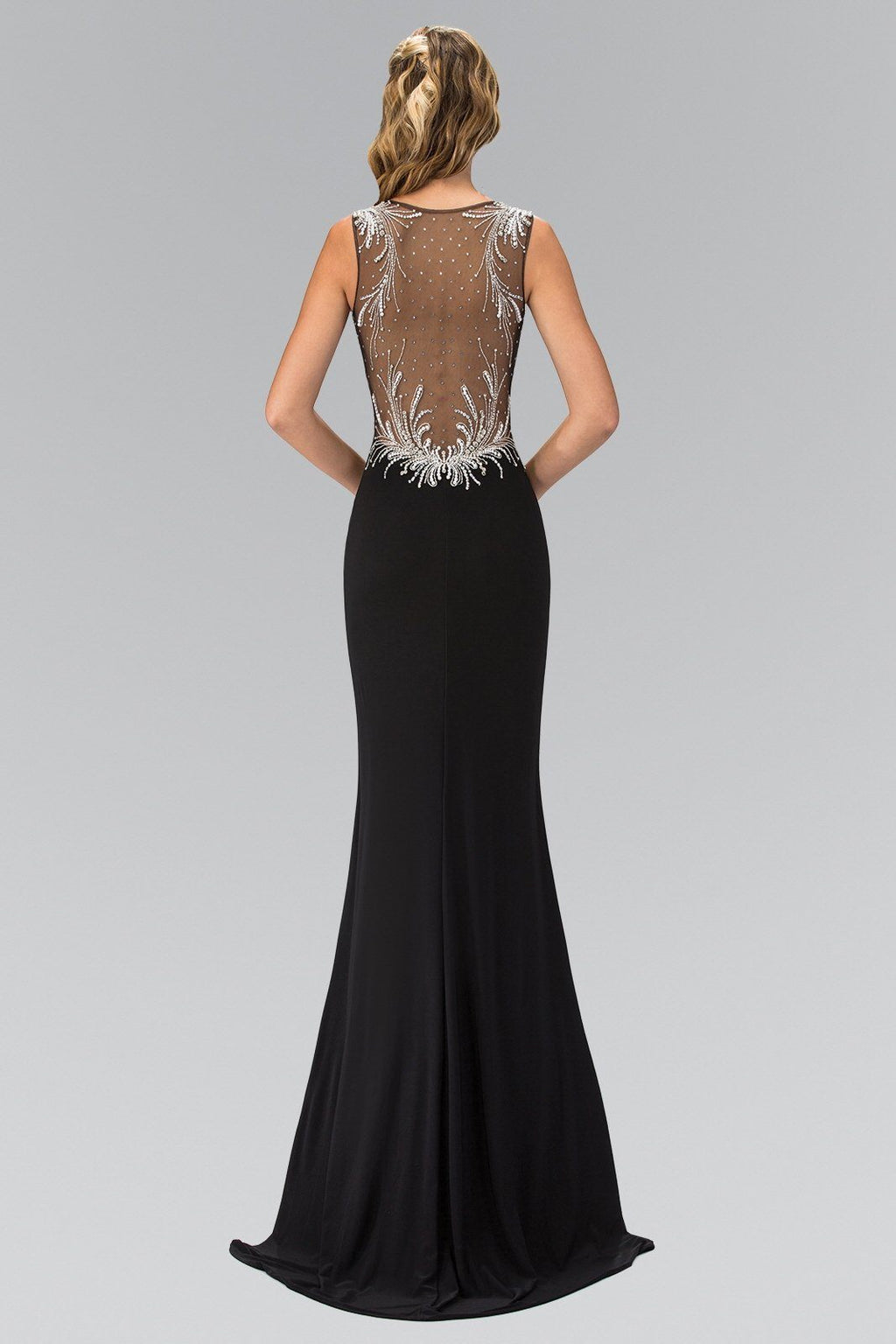 Black sexy evening gown gls 1358-Simply Fab Dress