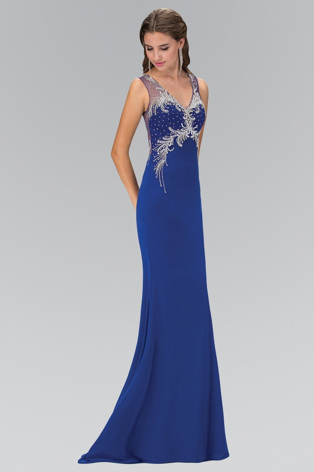 Royal blue sexy evening gown gls 1358-Simply Fab Dress