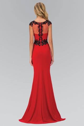 Red and black evening dress gls 1380-Simply Fab Dress