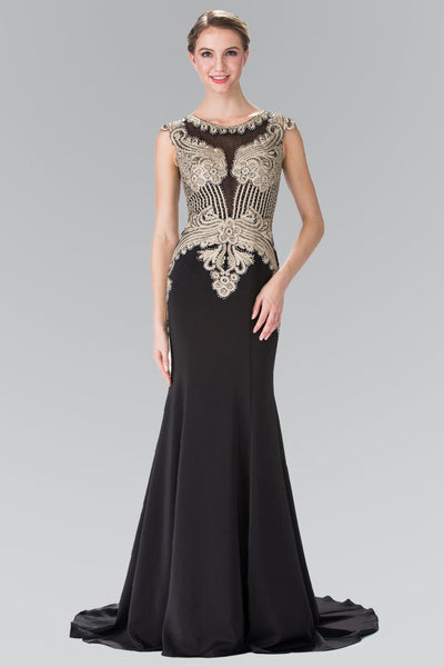 Black and gold prom dress gls 1461-Simply Fab Dress