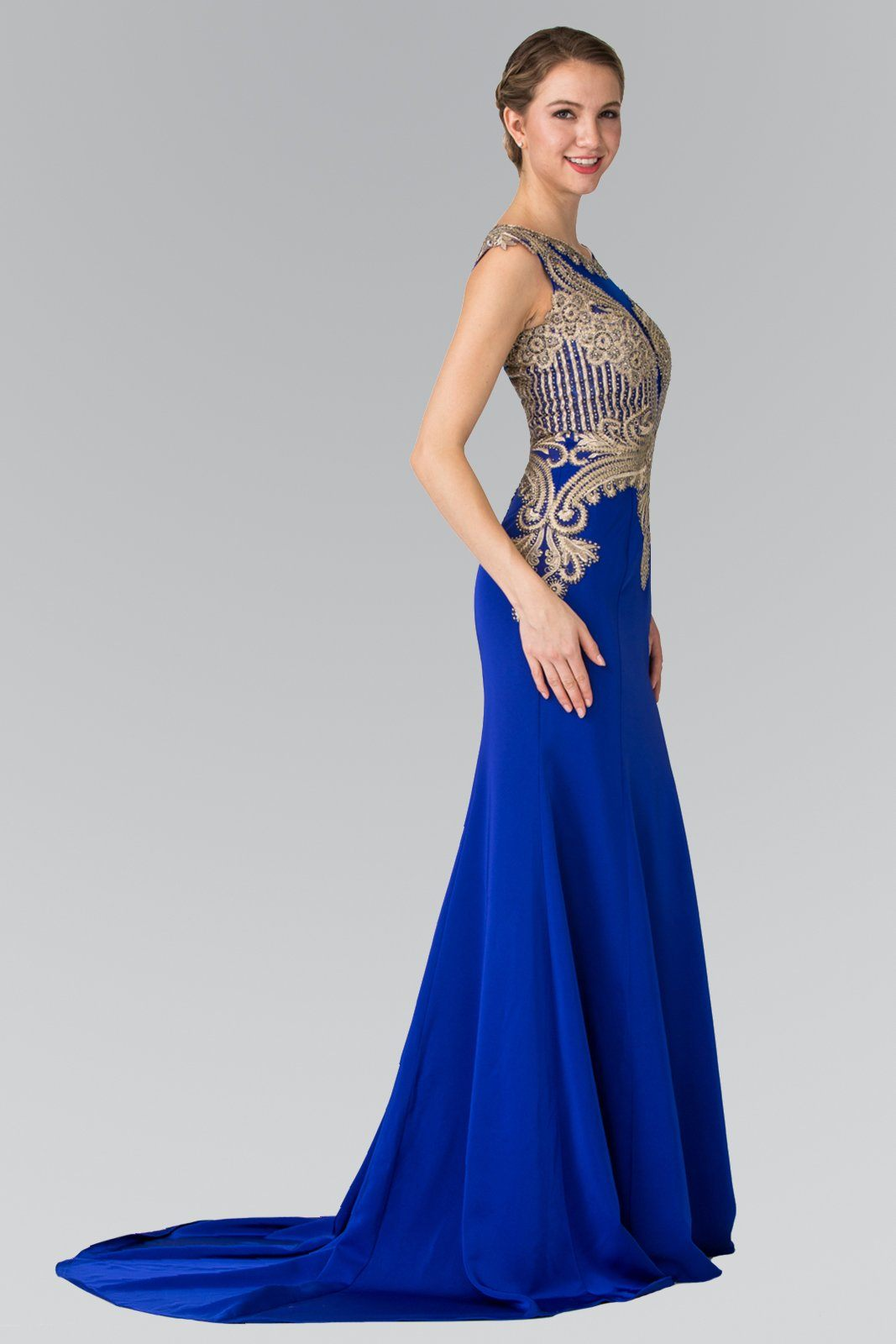 Royal blue evening gown gls 1461 – Simply Fab Dress