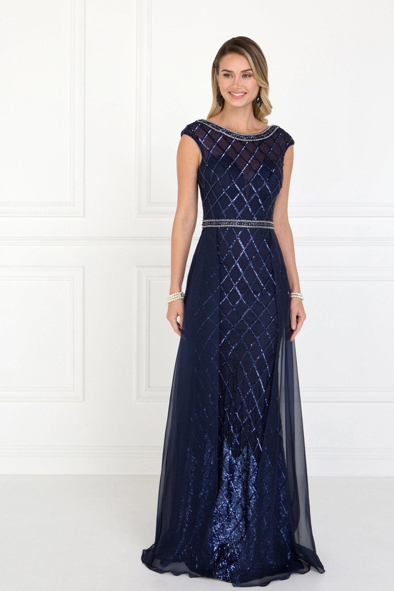 Fancy sequins evening gown Gls 1577 – Simply Fab Dress