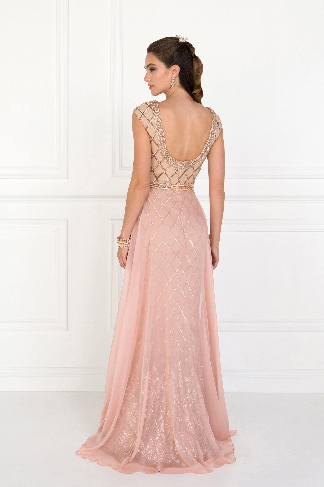 Fancy sequins evening gown Gls 1577-Simply Fab Dress